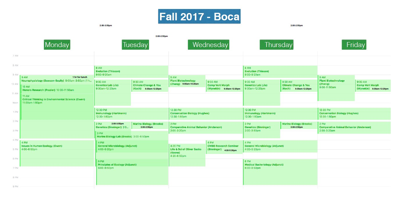 Course Offerings Fall 2017 Boca